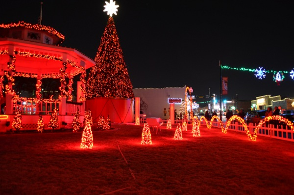lights shine in grapevine