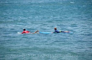 Kids Surfing Lessons with Hans Hedemanns Surf School at Turtle Bay Resort