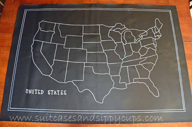 Making A Chalkboard Map Of The USA Suitcases And Sippy Cups - Us map chalkboard