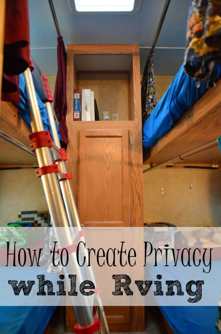 how to create privacy while living in an rv