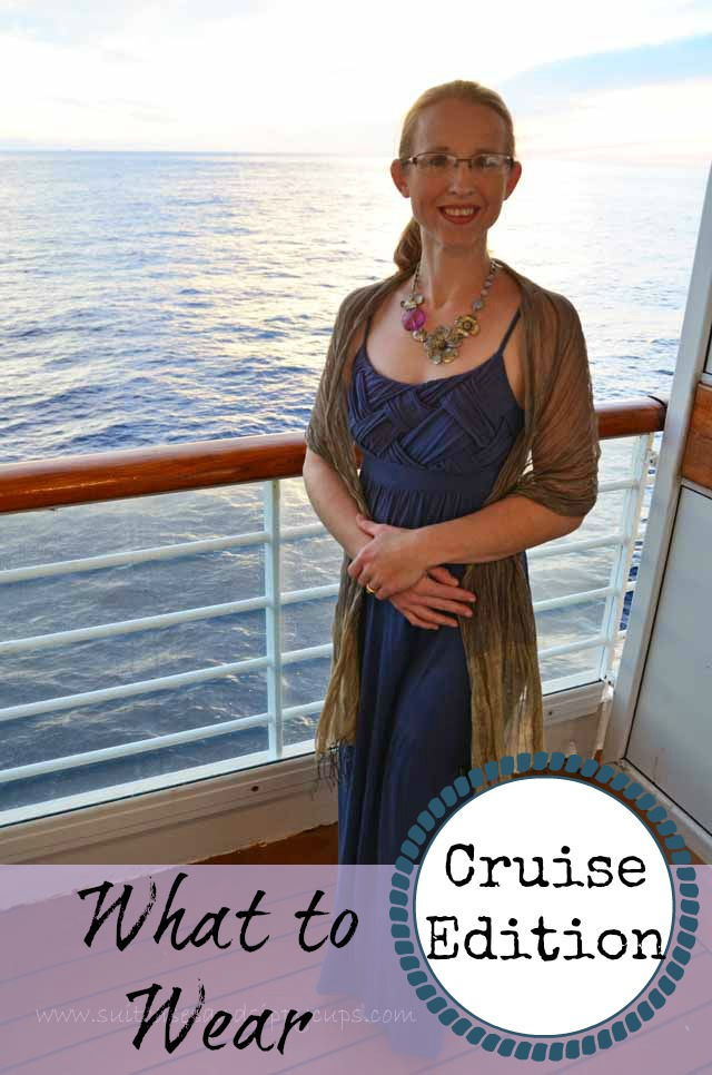 Cruise elegant dress means dress slacks, dress shirts and sport coats (optional) for men and cocktail dresses, pantsuits, elegant skirts and blouses for women. On elegant nights, passengers may choose to dress more formally in suits and ties, tuxedos or evening gowns, but that level of dress is not required.