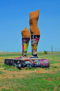 Two Vast and Trunkless Legs ~ Ozymandias Legs in Amarillo