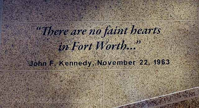 kennedy memorial fort worth there are no faint hearts in fort worth