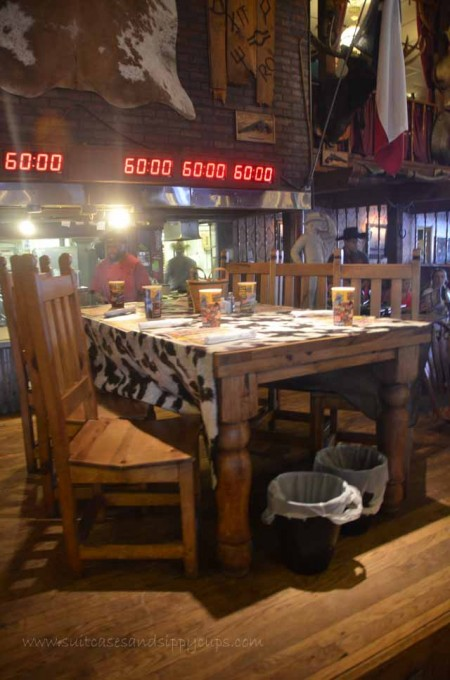 competition table at the big texan 72 ounce steak challenge