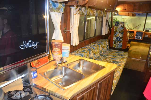 interior of a 1970 motorhome