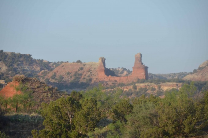 palo duro canyon lighthouse rock