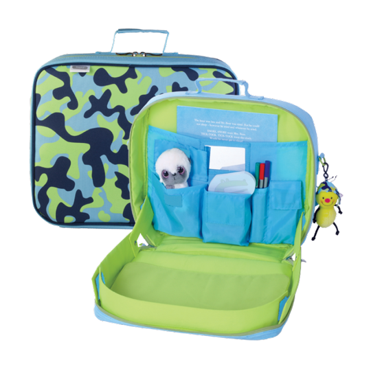 Kids Travel Bag~A Review of TrayKit - Suitcases and Sippy Cups