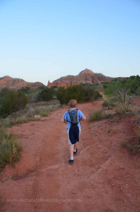 hiking palo duro canyon with kids