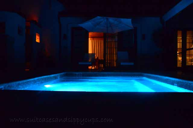 heated plunge pool inn at dos brisas