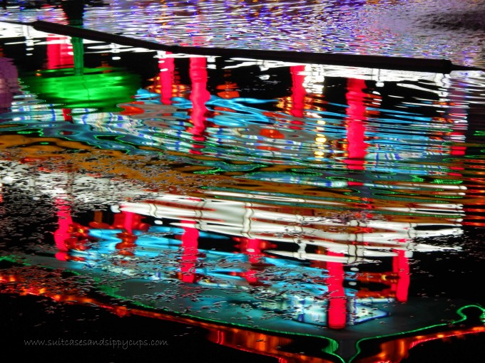 reflection at the Chinese Lantern Festival