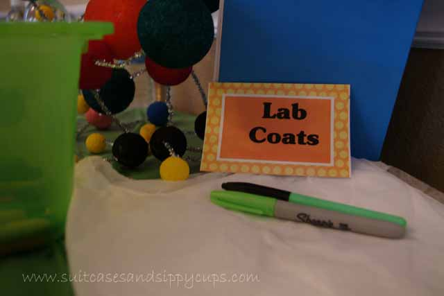 Lab Coats for Science party