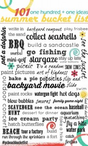 Summertime Bucket List-101 Ideas for Summer Fun for Kids {Free Printable}