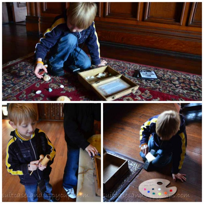 children's activities at Bishop Palace Galveston