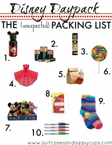 Ten Unexpected Items to Pack in your Disney Daypack: Travel Tips Tuesday