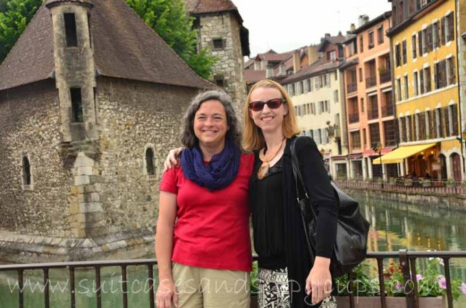 lori and jessica in annecy