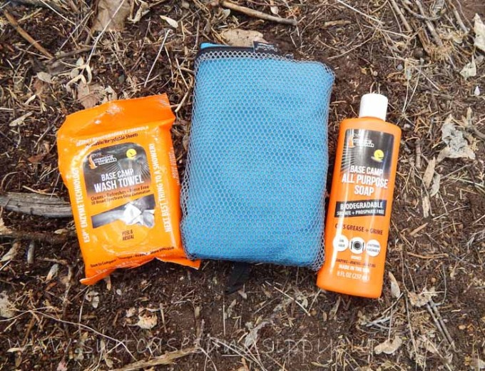 shower supplies for river rafting