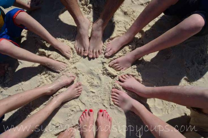 toes in the sand panama city beach