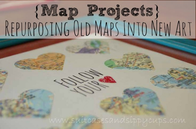 Repurposing old maps into art