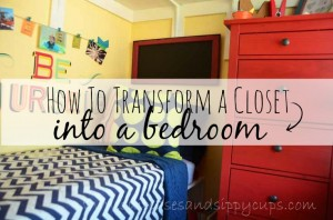 {Big Family, Small Space} How to Turn a Closet Into a Kid's Bedroom