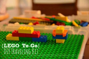{LEGO To-Go} How to Make a Traveling Lego Kit: Travel Tips Tuesday