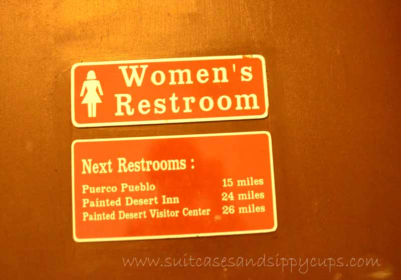 restrooms at petrified forest