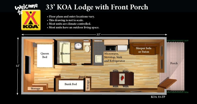 koa cabin floor plan