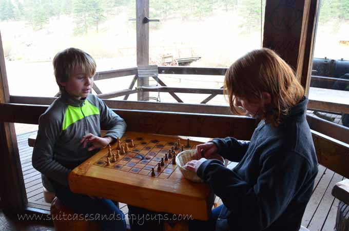 game playing at a guest ranch