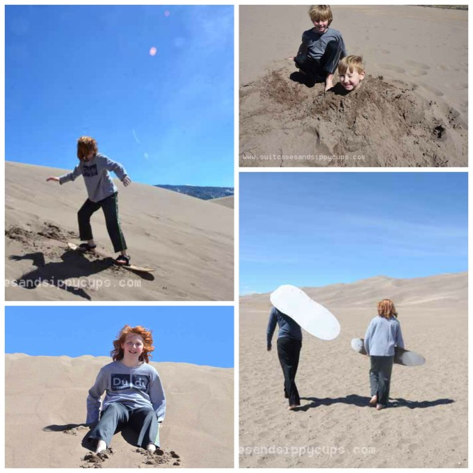 kids at great sand dunes