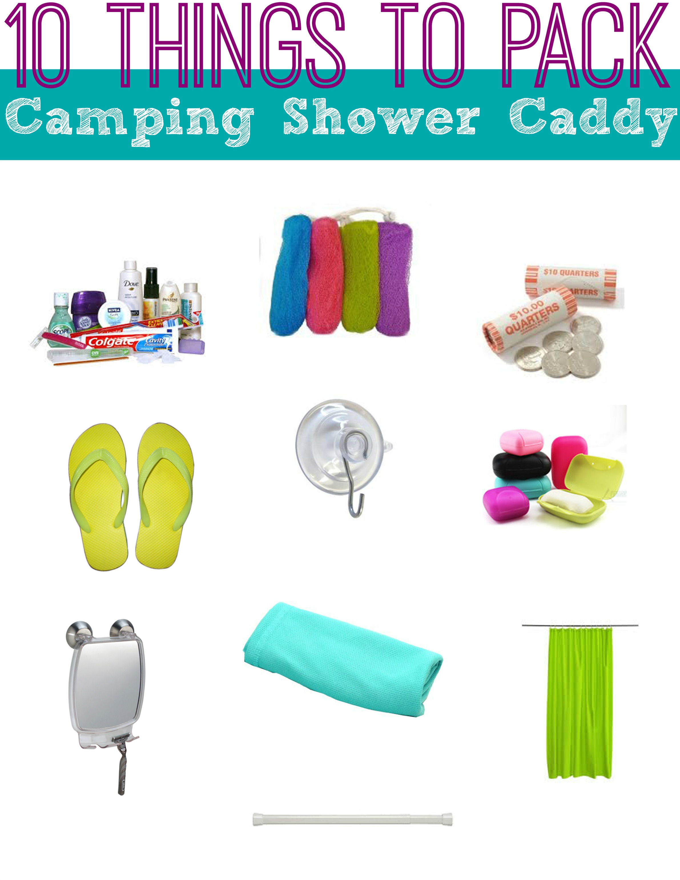 10 Things to Pack in Your Camping Shower Caddy - Suitcases and Sippy ...
