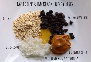 Backpack Energy Bites: Recipe for Camping, Backpacking and Roadtrips