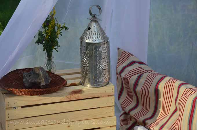 glamping decorative details