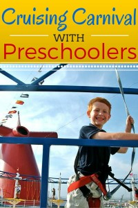 Five Things for Preschoolers to do while Cruising Carnival