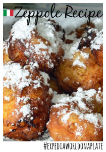 Expedia World On a Plate Challenge: Zeppole Italian Donuts