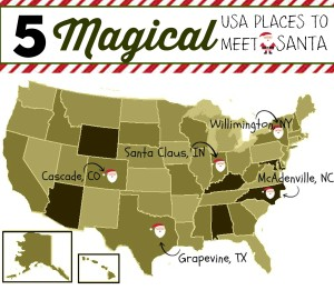 Five Magical Places to Meet Santa
