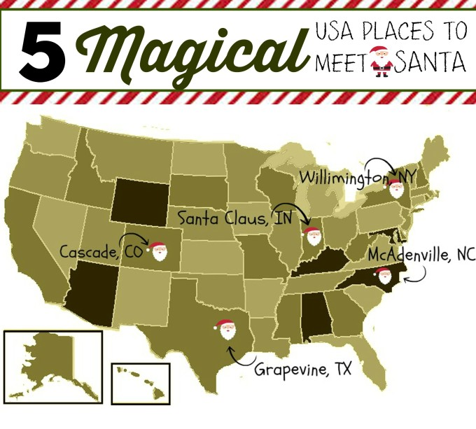 magical places to meet santa usa