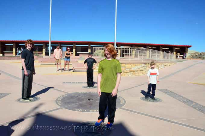 Four kids at Four Corners