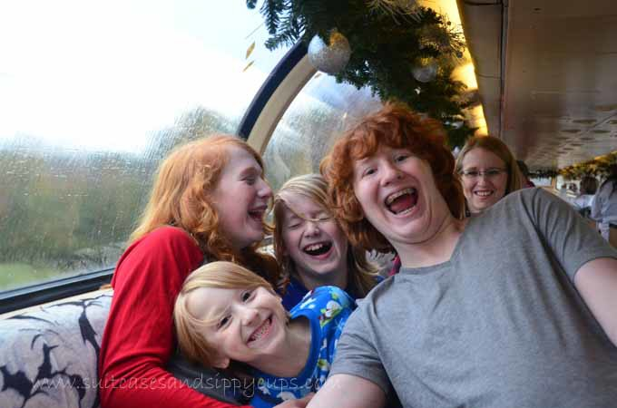 Teenagers on the Polar Express