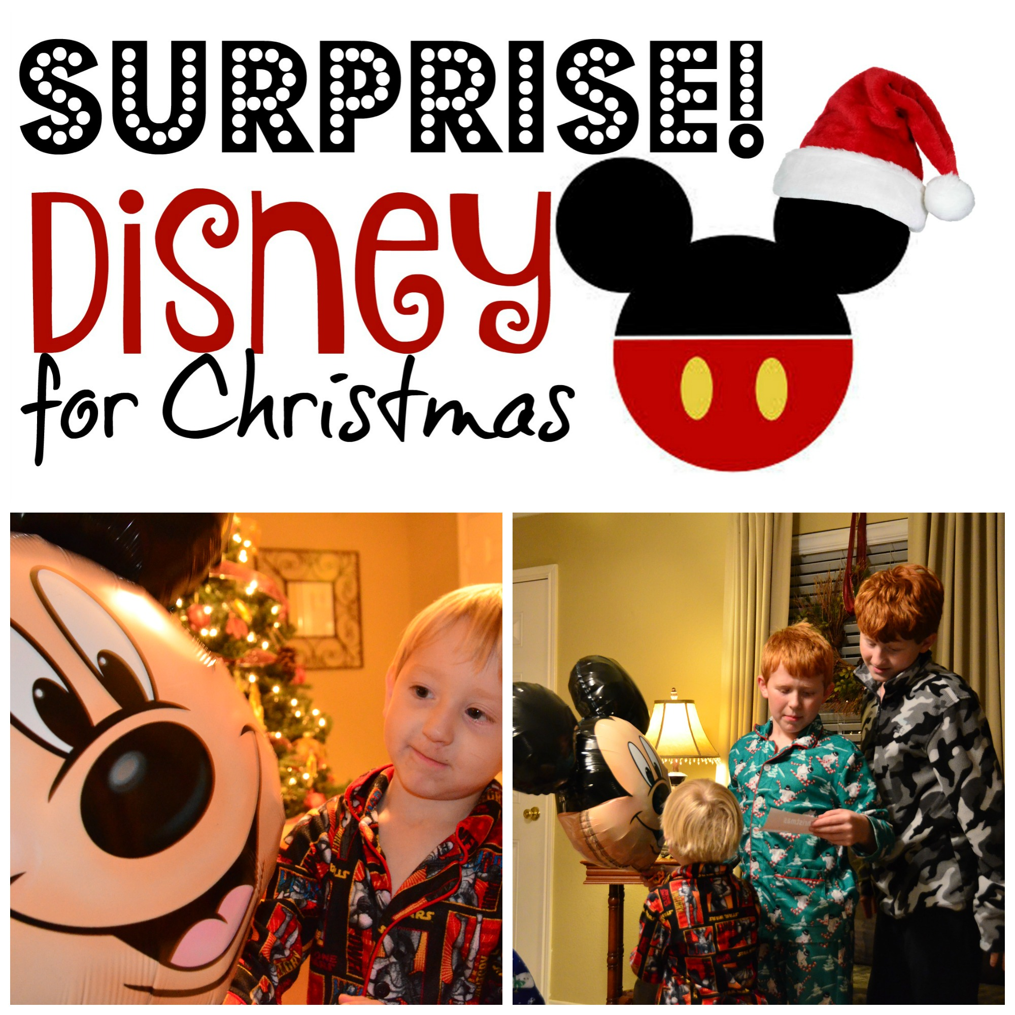 Wrapping up a Disney Trip Surprise for Christmas