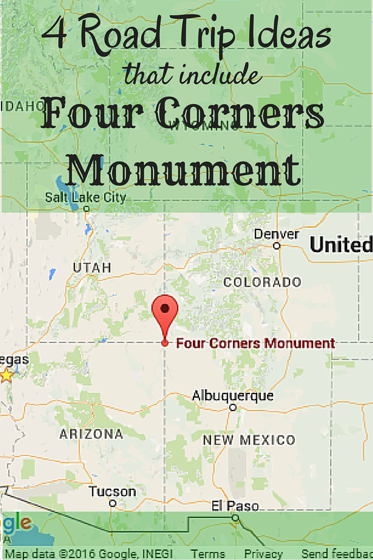 Four Roadtrip Ideas That Include Four Corners Monument Suitcases - Map of four corners area usa