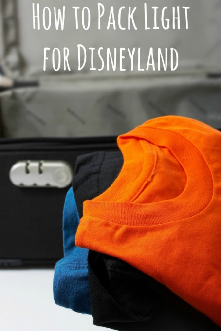 How to Pack Light for Disneyland