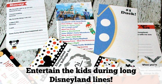 entertain kids while in line at disneyland