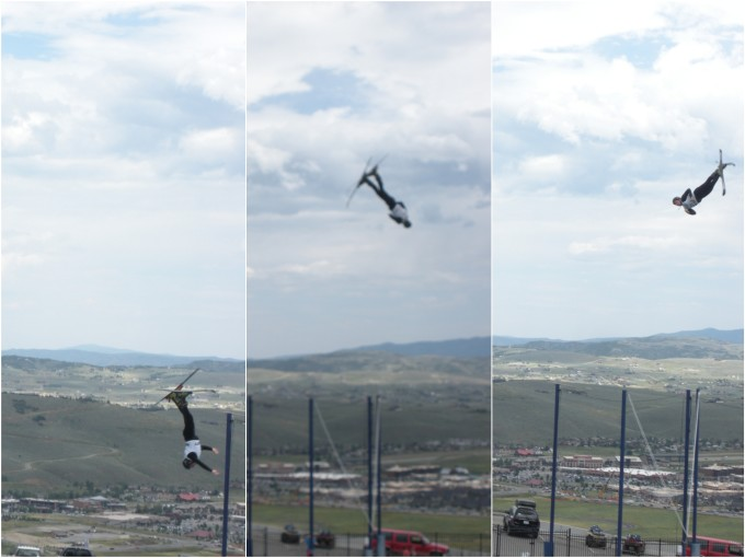 Utah Olympic Park Ski Jump Training